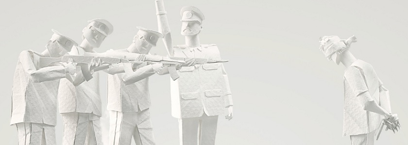 Poignant paper sculptures