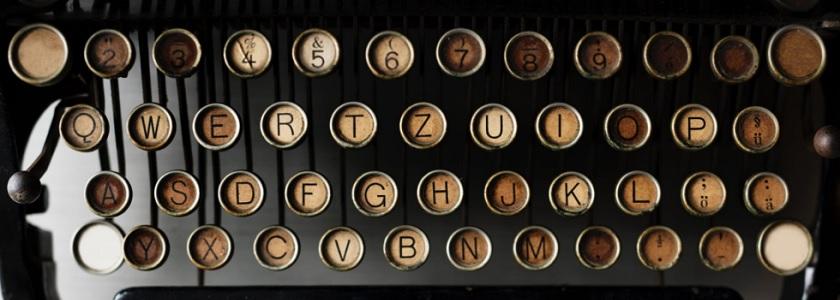 Blame typewriters?