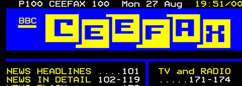 So, farewell then, CEEFAX