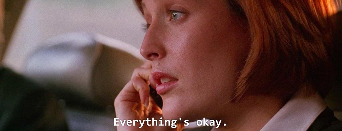 Everything's okay.